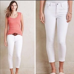 Citizens of Humanity White Rocket Crop Jeans